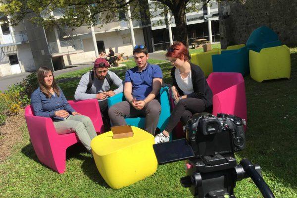 Création d'une nouvelle vidéo pour le CFA Académique de Poitiers. Tournage à Angoulême en Poitou-Charentes et Nouvelle-Aquitaine.