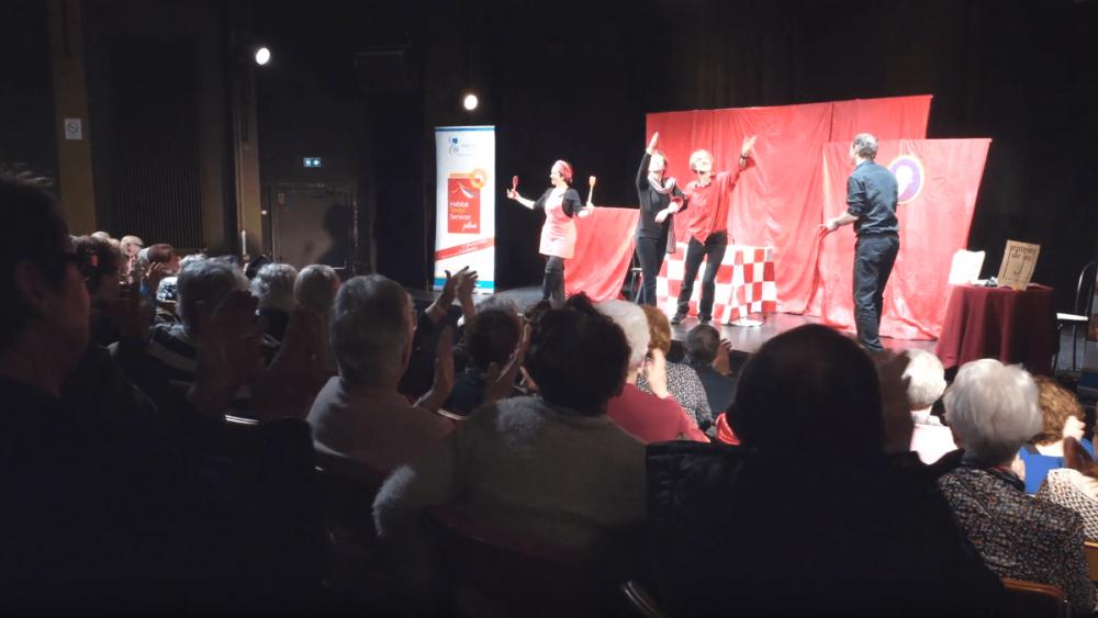 Captation d'une pièce de théâtre participatif dans la vienne, poitou-charentes