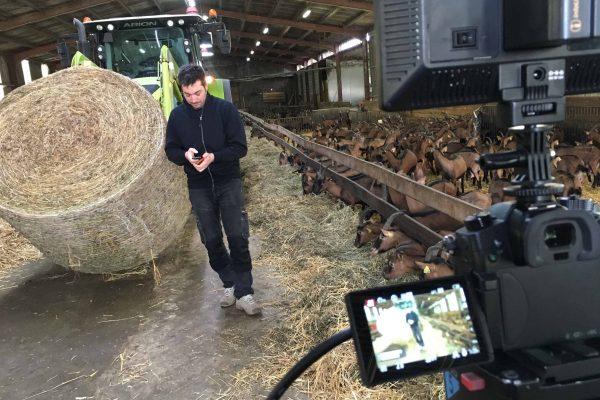 Tournage d'une vidéo dans une exploitation agricole près de Poitiers 86 dans la vienne